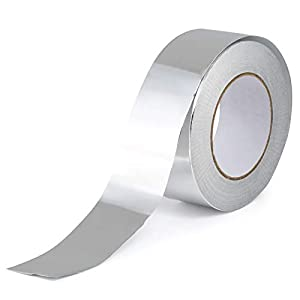 GWHOLE Cinta Adhesiva de Aluminio, Cinta Conductora de Aluminio Resistentes a Alta Temperatura para Reparación de HVAC…