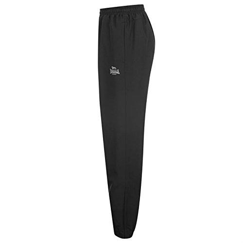 Lonsdale pour homme ourlet fermé Pantalon tissé pour homme pour homme Sport Course Gym Femme Noir