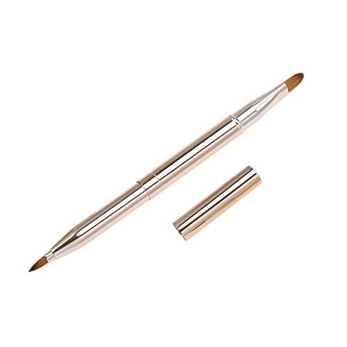 Frcolor 1 Stück Tragbare Lippenpinsel Doppelseitige Lippenstift Lip Gloss Applikator Make-Up Pinsel-werkzeug (Gold) -