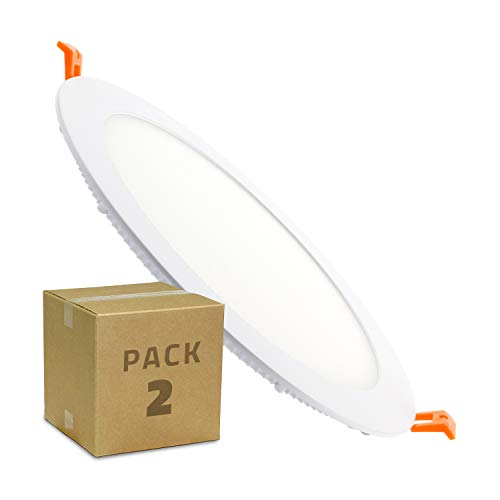 Placa LED Circular SuperSlim 18W Pack 2