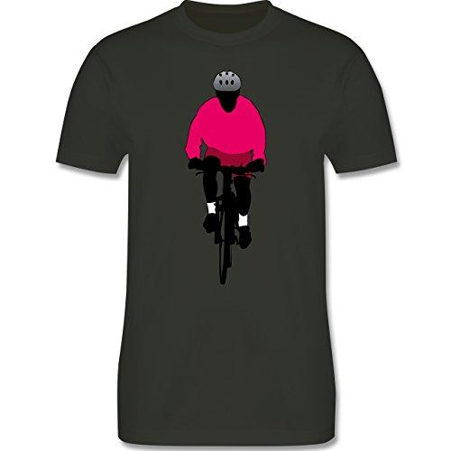 Radsport - Mountainbike Fahrrad - Herren Premium T-Shirt Army Grün