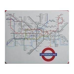 Mapa del metro de Londres alfombrilla para ratón (Ba)