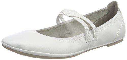 MARCO TOZZI Cool Club Mädchen 42200 Mary Jane Halbschuhe, Weiß (White), 36 EU -