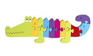 Orange Tree Toys Rompecabezas con número de cocodrilo, Multicolor