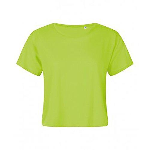 SOLS Damen Maeva Beach Kurzarm T-Shirt Neon Grün