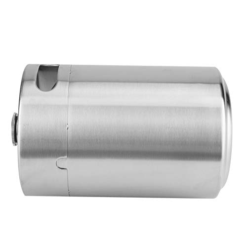 31q4Zq vFcL. SS500  - Beer Barrel Mini Keg Style Growler Stainless Steel Beer Supplies Holds Beer Double Handles for Home Camping Picnic (2L)
