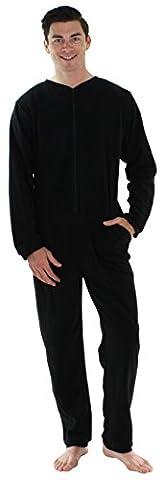 Sleepyheads Pyjama ohne Füße für Herren aus Fleece, bunter Onesie, Overall, Schlafanzug (Pyjama Overall)