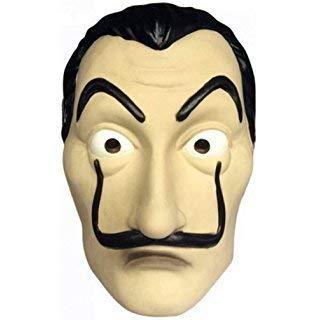 Hai Kostüm Pet - Nofonda Salvador Dali Maske Latex Kopfmaske LCDP Realistische Movie Vollmaske für Cosplay Kostüm