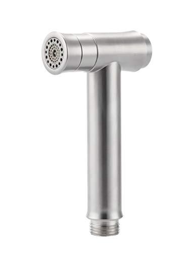 Pulvérisateur à Main Bidet en Acier Inoxydable - Douche Têtes Shattaf pour Toilette Bain en Couches Hygiénique en Tissu Suspendu Amovible