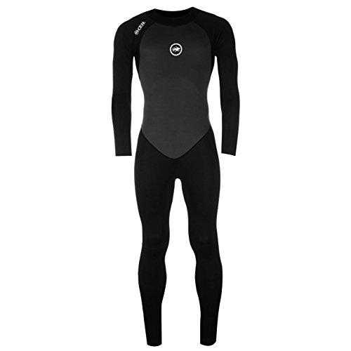 Hot Tuna Herren Taucheranzug Full Langarm Schwimmen Wassersport Bekleidung Klamotten Black/Charcoal Extra Lge
