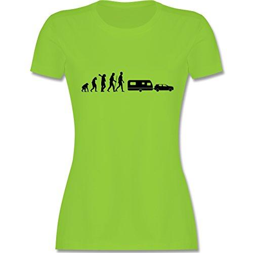 Evolution - Evolution Wohnwagen - Damen T-Shirt Rundhals Hellgrün