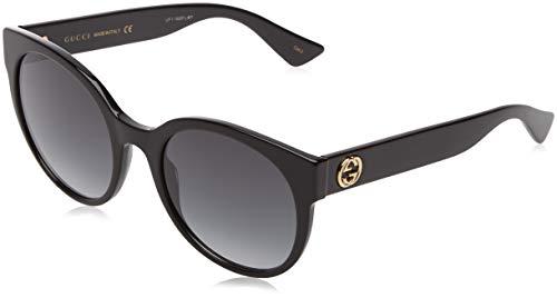 Gucci Damen GG0147S 001 Sonnenbrille, Schwarz (Black/Grey), 56
