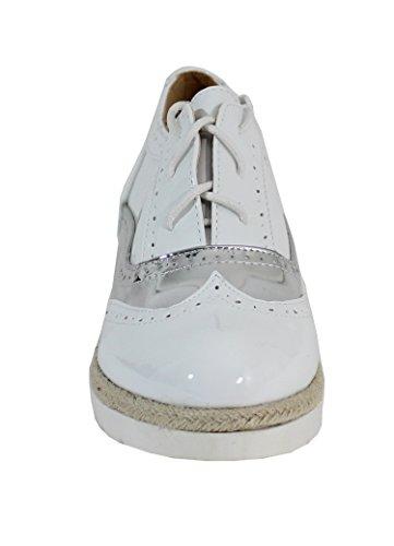 Chaussure Brillante Style Derby - No Name - Spéciale Été Blanc