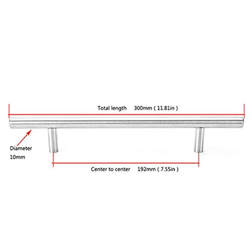 Mengonee Durchmesser 10 mm Edelstahl-Küche-Tür-Kabinett-T Schalengriff Knob Griff Griff Ziehen