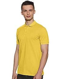 United Colors of Benetton Men's Plain Regular fit Polo (19P3DTPJ3033I_G50_Yellow_XL)