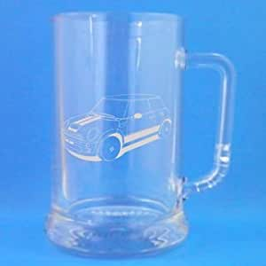 1 Chope en verre Design New Mini Cooper-Coffret cadeau inclus