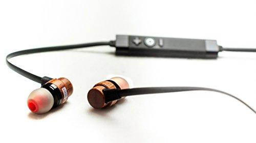 Phidelity Bluetooth Kopfhörer 4.1, nachhaltige In Ear Sportkopfhörer mit Mikrofon, CO2-neutrale Produktion, komfortable kabellose Kopfhörer, Echtholz, einzigartiges Design und High- End Sound
