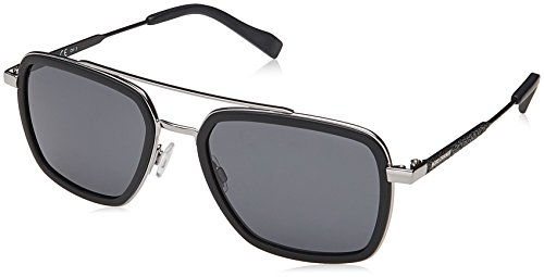 BOSS Orange Herren BO 0306/S IR 003 53 Sonnenbrille, Schwarz (Matt Black/Grey),