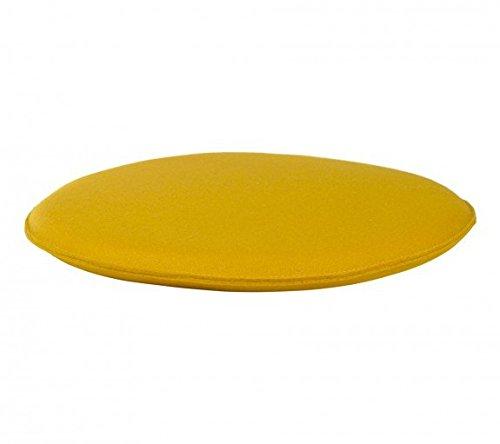 myFilz – Sitzkissen Stuhlkissen Stuhlauflage Sitzpolster Ø 36 x 2.5 cm 3 mm Wollfilz gelb