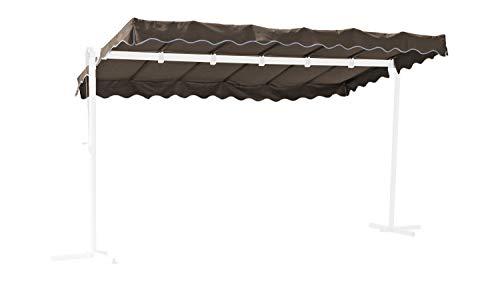 GRASEKAMP Qualität seit 1972 Ersatzdach Standmarkise Dubai Taupe Raffmarkise Ziehharmonika Mobile Markise