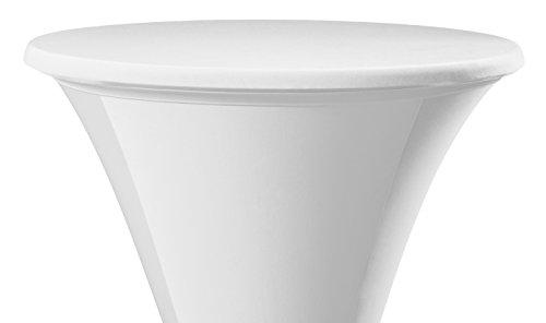 Dena 022601 Tischplatten Bezüge Samba, Durchmesser 60 cm, weiß