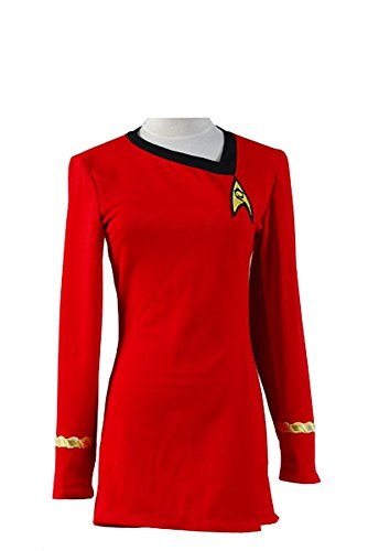 Star Trek Kostüm Cosplay TOS Uniform Kleid Rot Damen XXXL