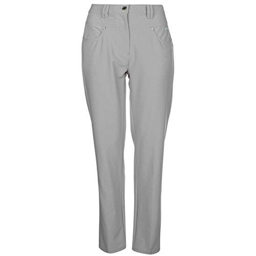 Slazenger Damen Golf Hose 5 Taschen Design Gürtelschlaufen Kontrast Logo Grey 16 (XL)
