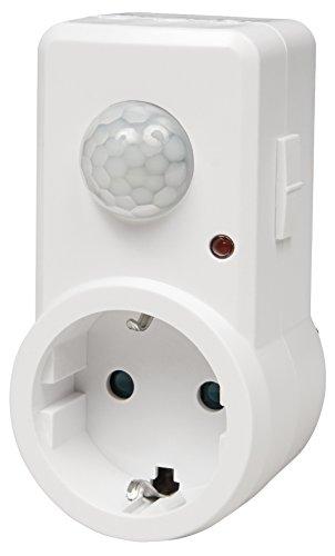 Zwischenstecker HEIMDALL IR120, 120° Bewegungsmelder, 1.200W, weiß 9m steckdose (1) (Halloween Namen Katze)