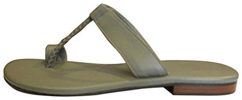 11sunshop Sandales en Cuir Model GHOZI Par Design EU 33 au 44 Grey