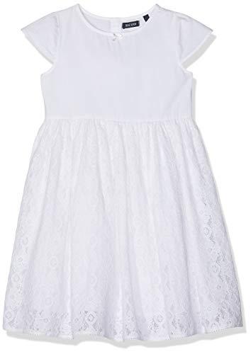 Blue Seven Mädchen Keid, Rundhals Kleid, (Weiss 001), (Herstellergröße: 104)