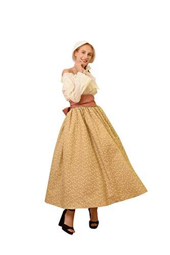 Mittelalterlich Bluse Rock Retro-Kostüm 1800s-1900s Colonial Pioneer Outfit für (Frauen Bürgerkrieg Kostüm)