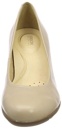 Geox D Annya C, Scarpe con Tacco Donna Beige