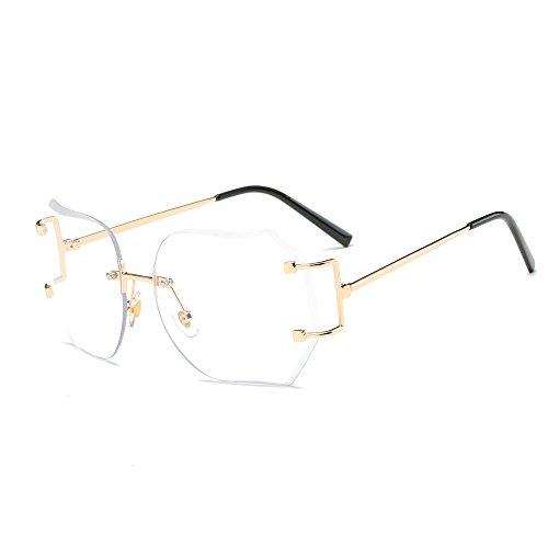 LABIUO Sonnenbrillen, Unisex Mode Vintage Style Design Quadrat Farbverlauf Gläser Verspiegelte Linsen Aviator Reise Sonnenbrille Getönt(Weiß,freie Größe)