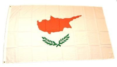 Preisvergleich Produktbild Fahne Flaggen ZYPERN 150x90cm