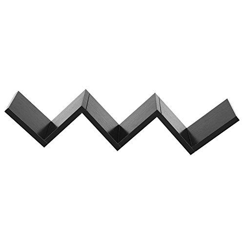 GOTOTOP - Estantería Flotante de Pared para Libros, diseño Retro, Color Negro