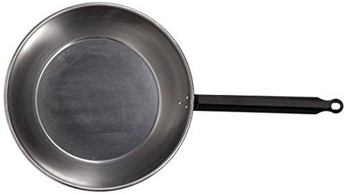 La Valenciana 18 cm sartén con acero pulido con asa, Black_Parent, negro, 20 cm