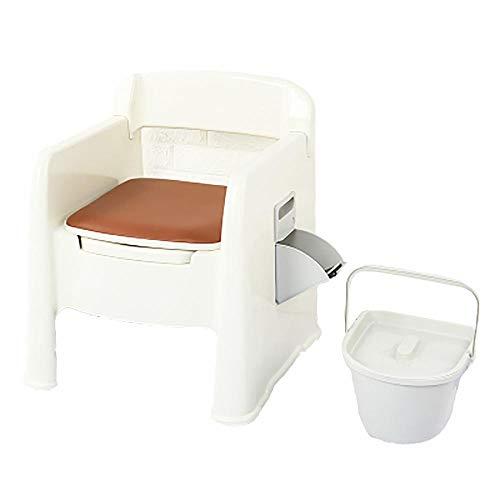 XIHAA Mobile Toilette Anti-Rutsch-Schwangere Frauen Toilette ältere tragbare geduldige Erwachsene Kommode, ältere Schwangere Frauen bewegliche Erwachsene Haushalts-tragbare Kommode,A