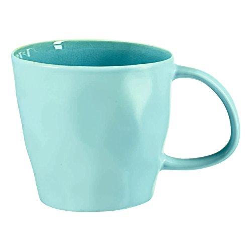 ASA 12151098 Kaffeetasse - Tasse - Porzellan - Turquoise/Türkis 0,18l Höhe 8, cm Ø 8,5 cm