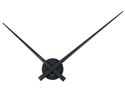 Karlsson KA450050 Horloge murale Little big time Noire Métal aluminium Aiguilles géantes