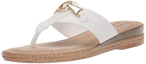 Easy Street Frauen Flip Flops Weiss Groesse 6 US /37 EU - Pointy Toe Knee High Boots