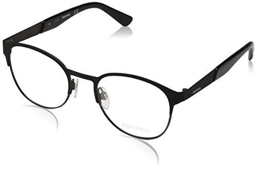 Diesel Unisex-Erwachsene Brillengestelle Dl5236, Schwarz (Nero OPACO), 49