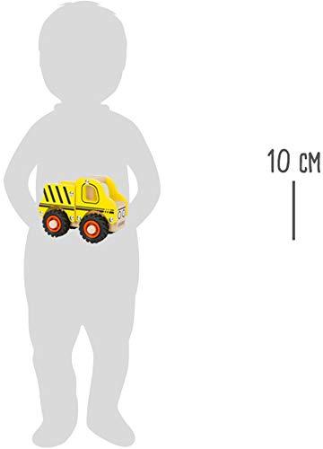 small foot 11096 Einsatzfahrzeug Baufahrzeug aus Holz, mit Ladefläche und gummierten Rädern, ab 18 Monaten - 6