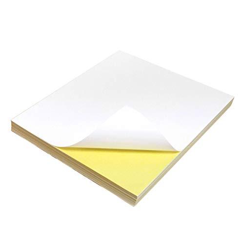 AKA di qualità, formato A4, 100 fogli, colore: bianco opaco e retro adesivo, fantasia carta adesivo