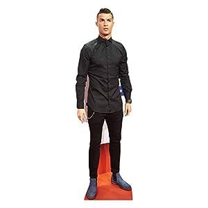 Star Cutouts Pappfigur Cristiano Ronaldo in Lebensgröße, Mehrfarbig