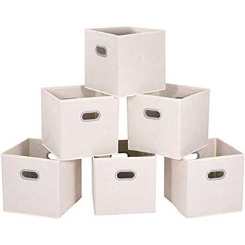 maidmax aufbewahrungsboxen aus stoff im 6er set aufbewahrungskorb ohne deckel ordnungssystem
