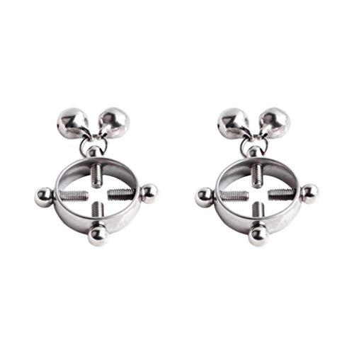 Healifty 2 piezas pezón anillo de pezón abrazadera de pezón juguete clip de pezón joyería...