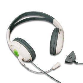 Grande cuffia avricolare di stile di Xbox 360 (trasduttore auricolare & microfono) per gioco online di Xbox 360 con i pezzi dell'orecchio della schiuma per comodità e braccio regolabile & controllo del volume del Mic