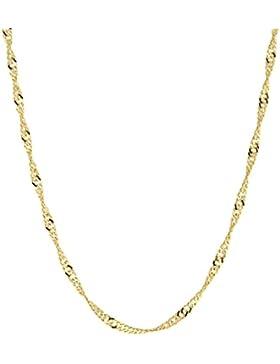 14 Karat / 585 Gold Singapur Kette Licht Zweiseitig Diamantiert Unisex Länge Wählbar.