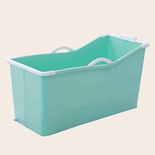 DEI QI Erwachsener Faltbare tragbare Isolierungs-Badewanne Erwachsene Plastikbadewanne-Nicht giftiges weiches Material (Farbe : Grün)