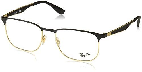 Ray-Ban Unisex-Erwachsene Brillengestell 0rx 6363 2890 54, (Gold Top On Black)